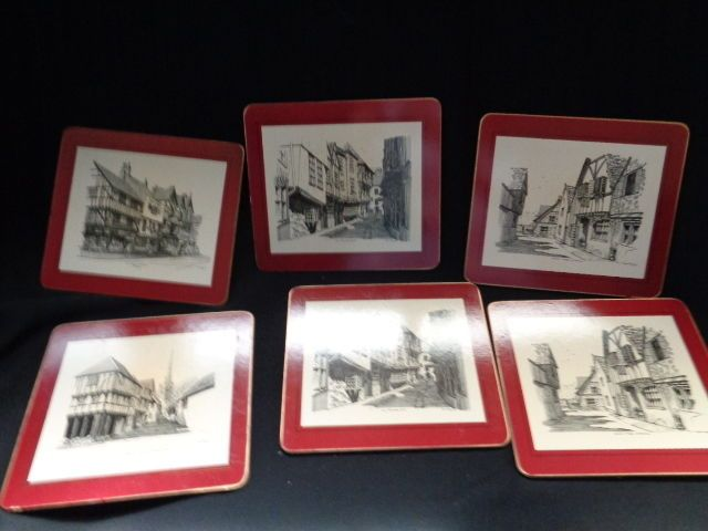 English Traditional Table mats (hot pad or trivet)Scenes by famous artist (6)