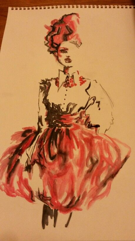 Fashion illustration by Roisin Doherty