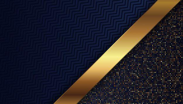 Luxury Dark Blue Background With Glowing Golden Dots Dark Blue Background Blue Backgrounds Background