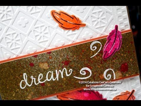 """carte """"dream"""" card with #LawnFawn stamp & die sets, new 2014 Dylusions ink sprays #DyanReaveley and a #Spellbinders E.F."""