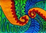 Koru Paintings, 3rd grade  Koru = Maori for loop/movement/life/growth