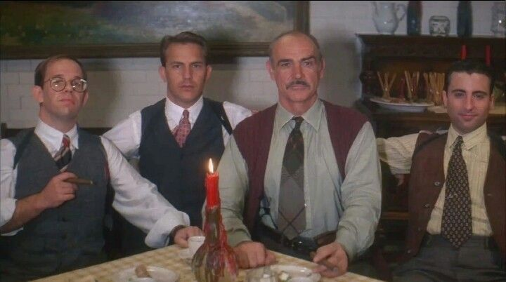THE UNTOUCHABLES , Brian De Palma 1987 - Charles Martin Smith, Kevin Costner, Sean Connery and Andy Garcia