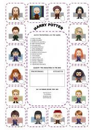 English teaching worksheets: Harry Potter
