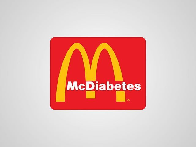 I thought I'd post my previous series of #honestlogos from 2011 - #18 McDiabetes. #adbusting #parody #logo #satire #graphicdesign #viktorhertz #fastfood #diabetes #mcdonalds #hamburger