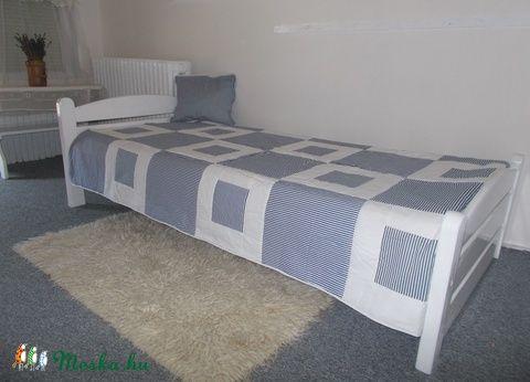 Kék-fehér (matróz) patchwork takaró, Otthon, lakberendezés, Lakástextil, Takaró…