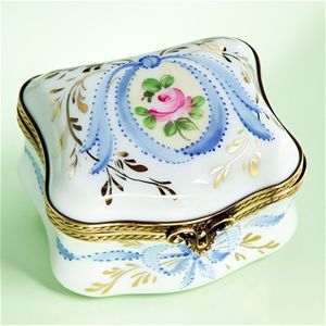 Limoges Ribbons and Roses Regency Box The Cottage Shop
