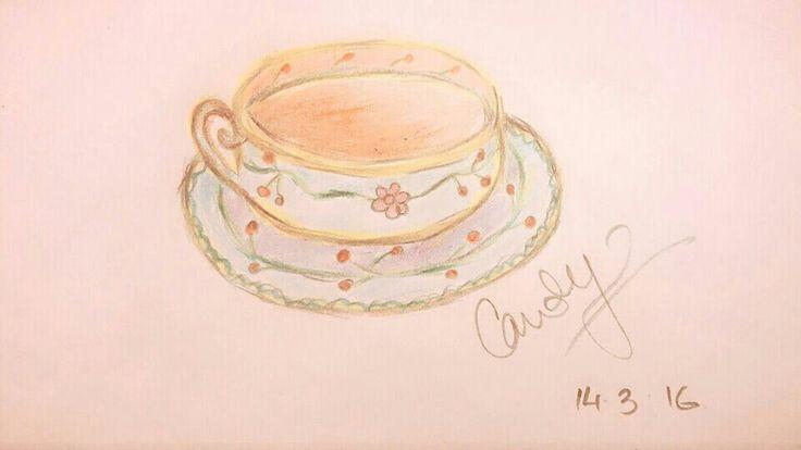 I love old vintage Teacups. #sketch #sketchbook #vintagesketch #vintage