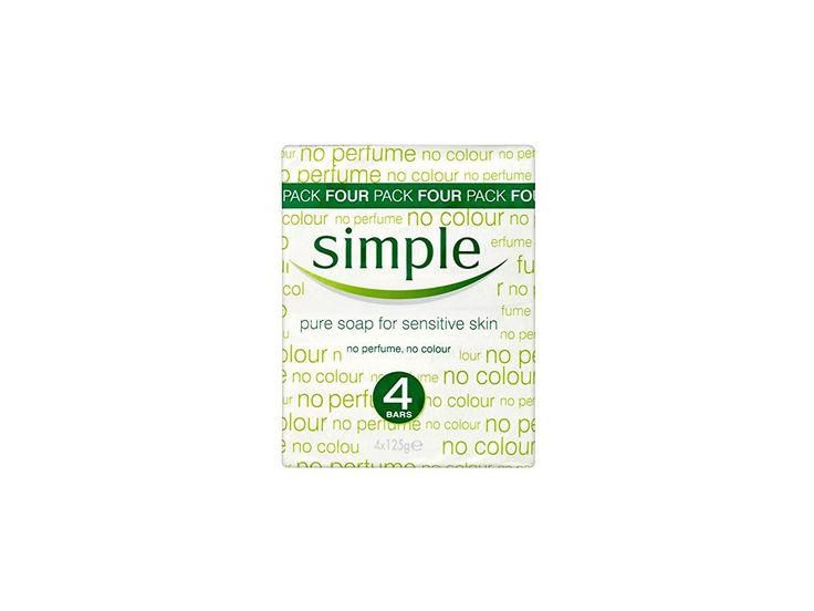 Simple Pure Soap for Sensitive Skin, 125 g (Pack of 4) Ingredients and Reviews