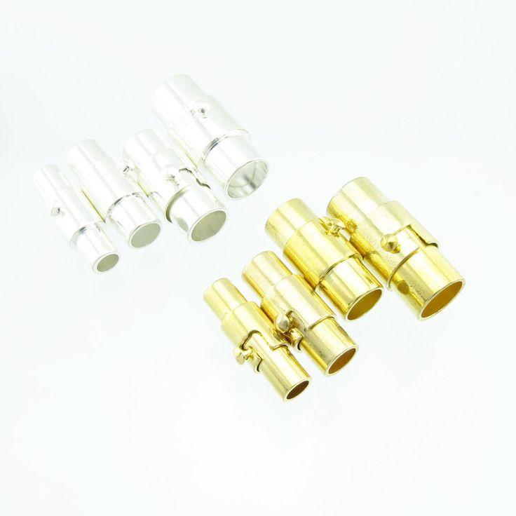 5x Magnet Bajonettverschluss 3 4 5 6 mm Band silber o. gold Sicherheit | Bacabella Perlen und Schmuckzubehör
