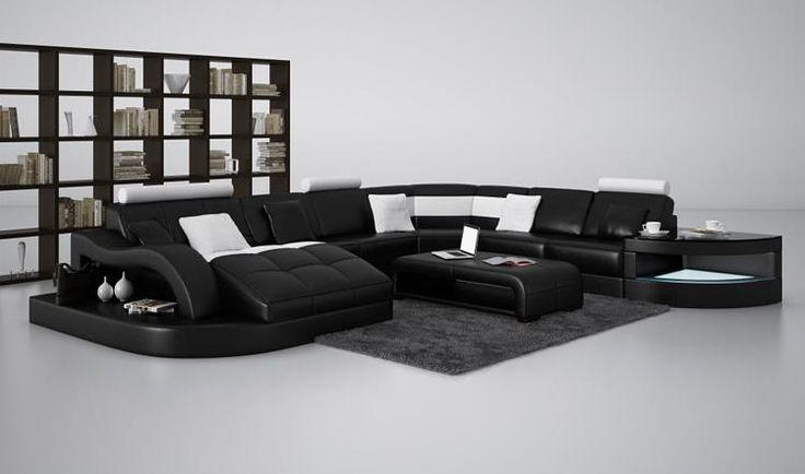 Stylish Design Furniture - Divani Casa 6140 Modern Black and White Bonded Leather Sectional Sofa, $2,584.00 (http://www.stylishdesignfurniture.com/products/divani-casa-6140-modern-black-and-white-bonded-leather-sectional-sofa.html)