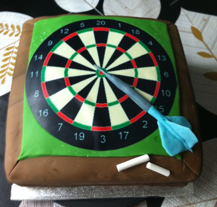 Dartboard cake made for 14/7/13 Victoria sponge cake, sold for £25