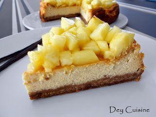 Dey cuisine: Cheesecake exotique à la ricotta (ananas & vanille)