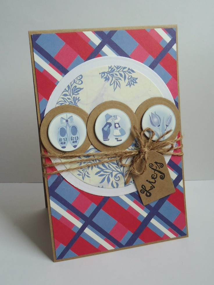 Because it's fun to create… Delft blue Dutch card. CASE with Netherlands stamp set by Stampin Up.
