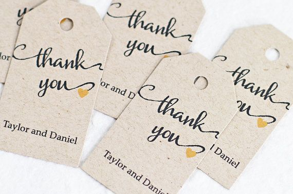 Wedding Favor Tag, Wedding Gift Tag, Bridal Shower Favor Tag, Calligraphy Lettering Style