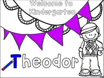 first day of school name coloring pages kindergarten - Coloring Pages Kindergarten