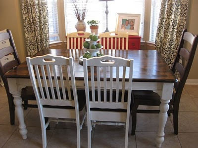 Life love larson  New  Old  Kitchen Table  Staining31 best Kozy Kitchen images on Pinterest   Dining room  Kitchen  . Redo Old Kitchen Table. Home Design Ideas