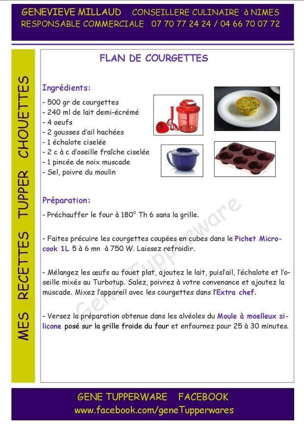 Tupperware - Flan de courgettes