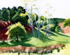 Edward Hopper - Spindley Locusts, 1936.
