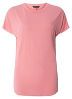 Womens Pink Relaxed Fit T-Shirt- Pink