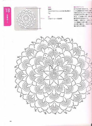 Free Japanese Crochet Doily Patterns : 1000+ ideas about Crochet Doily Patterns on Pinterest ...