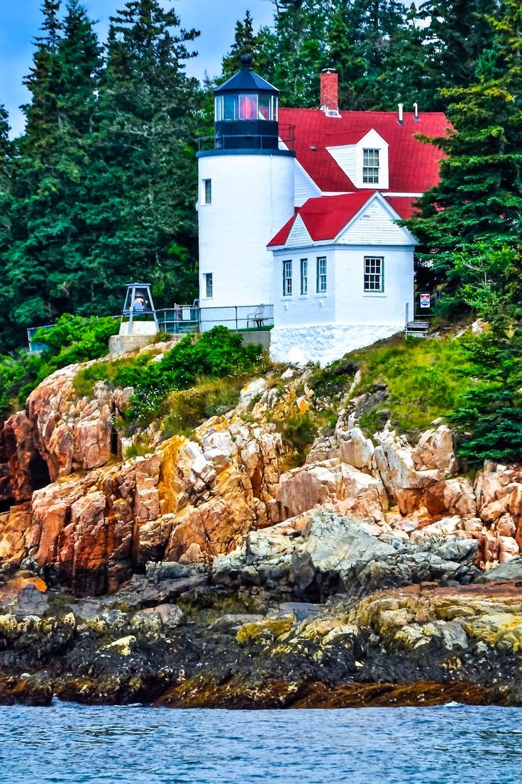 Beautiful #Lighthouses around the World -Bass Harbor Head Station, #Maine http://www.inspired-tours.com/2015/03/10-beautiful-lighthouses-around-world.html