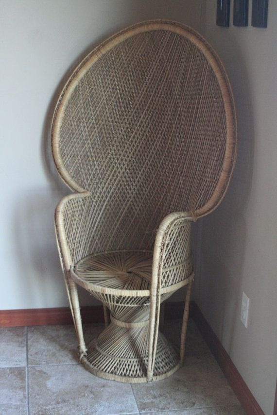 Vintage Wicker Peacock Chair   Fan Back   Bohemian Chic   Tropical Resort  Lounge Chair  . Peacock ChairLounge ChairsPuerto VallartaFront ...