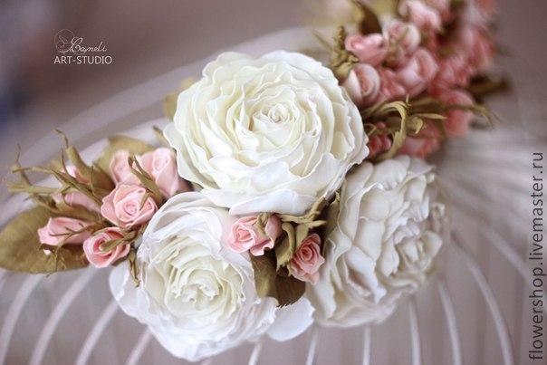 Мастер-класс венок из роз (фоамиран)