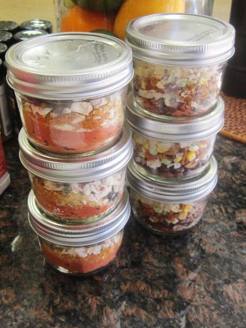 52 personal meals in a jar! Good for camping, or long term storage (5-7 years)