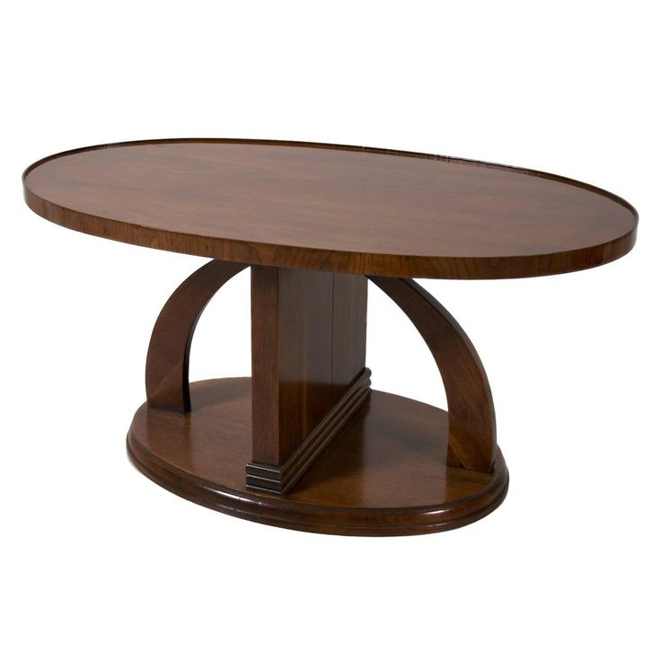 Swedish Art Deco Period Mahogany Coffee Table Or Occasional Table, Circa  1930