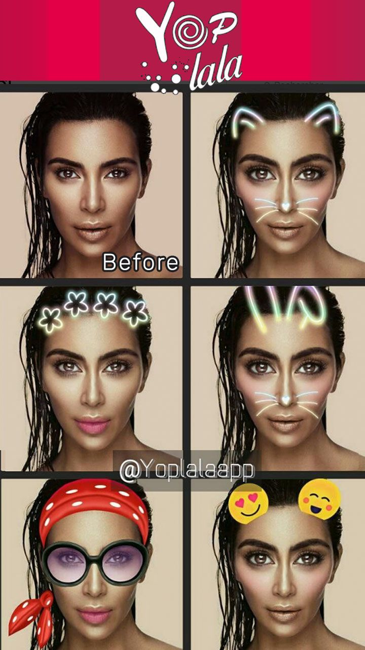 Yoplala app snapchat like filters big eyes tiny chin geofilters yoplala app snapchat like filters big eyes tiny chin geofilters free rabbit head flower crown emoji on head preview on kim kardashian snapchat like izmirmasajfo