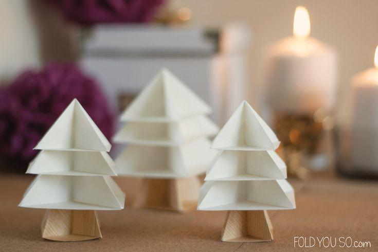 Alberi di Natale origami