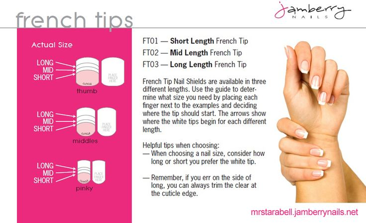 Jamberry French Tips. Need to try French tips?   To shop and/or order to go: http://kelseyjooie.jamberrynails.net