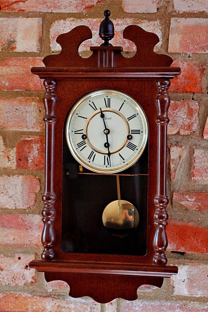 Vintage German Hermle 8 Day Wall Clock With Westminster Chimes Clock Wall Clock Antique Wall Clock