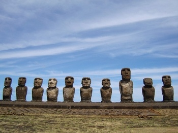 Easter Island, Chile. $1200 trip for each.