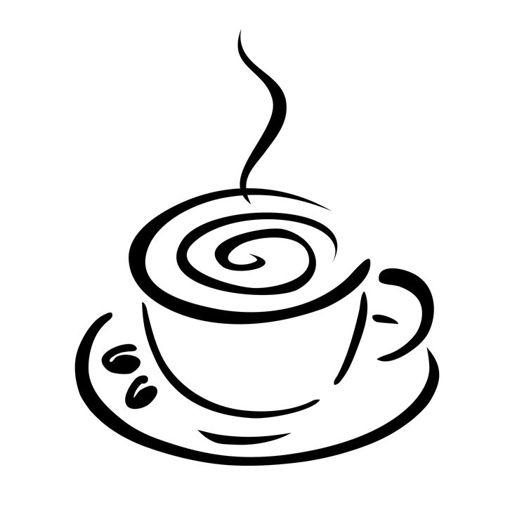 Coffee Cup Black And White Clipart Clipart Kid Clipart Coffee