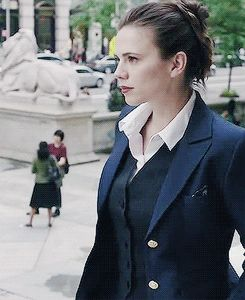 Hayley Atwell as Hayes Morrison in Conviction. This show is a gift. She's great!