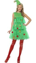 Een unieke en ludiek #kerstkostuum is het #kerstboom jurkje! Succes gegarandeerd.