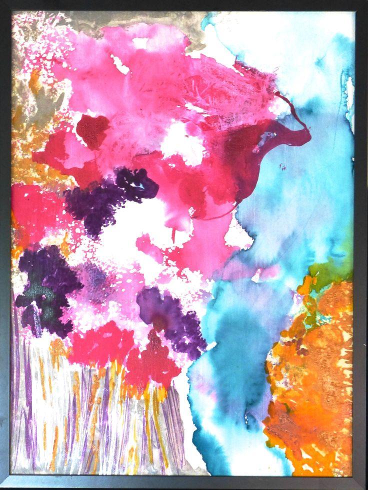 """""""Splash of Inks"""", Inks, 16"""" x 12"""", $100.00, Framed"""
