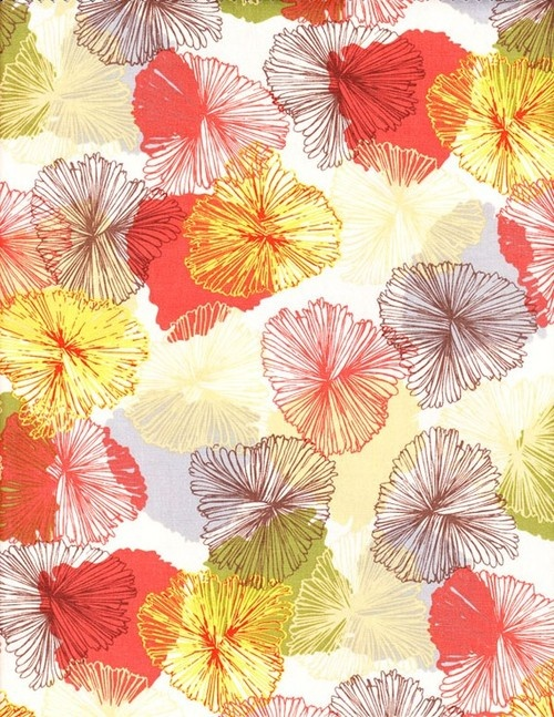 floral.Summer Dresses, Warm Colors, Bryant Parks, Happy Phones, Japan Flower Prints, Happy Fabrics, Orange Fade, Fabrics Pattern, Parks Orange