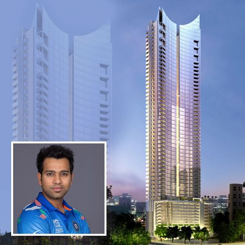 Dotting the Mumbai Skyline & spanning over more than 3.5 million sq ft we feel proud that renowned Indian Cricketer Rohit Sharma owns a sprawling 4 BHK apartment in the plush #Ahuja Towers in Worli.