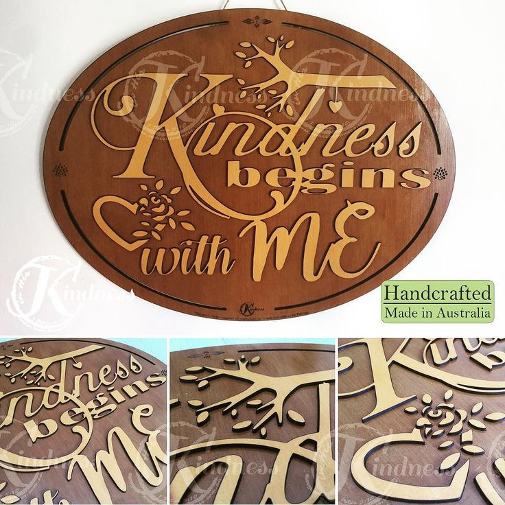 "Did you guess it right? ""Kindness begins with me!"" http://ift.tt/2px71KJ #inhiskindness #inspirationalquotes #creativity #lasercut #woodworking #kindness #unique #art #handcrafted #madeinaustralia #modern #love #bethegood #makeadifference #bethechange"
