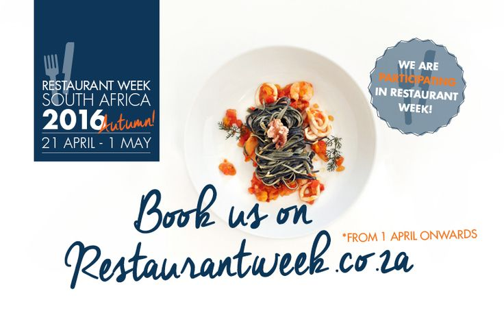 Shimmy is participating in Restaurant Week 21 Apr to 1 May in Cape Town. Book a great lunch menu for R200 pp. www.resttauramtweek.co.za