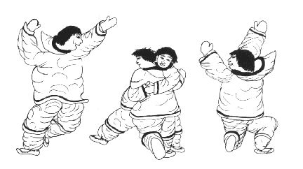 Inuit Wrestling Lift each other off the floor