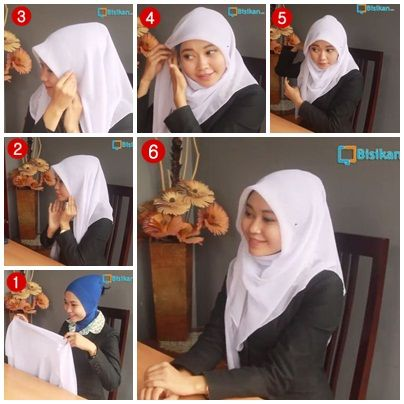 ... about Hijab Tutorial on Pinterest | Hijab tutorial, Hijabs and Shawl