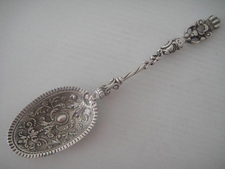 33e  Wunderschöner Löffel 833 Silber Niederlande um 1917, Jac. Vos