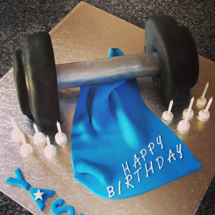 Dumbbell cake | Novelty cakes | Pinterest | Motorcycle