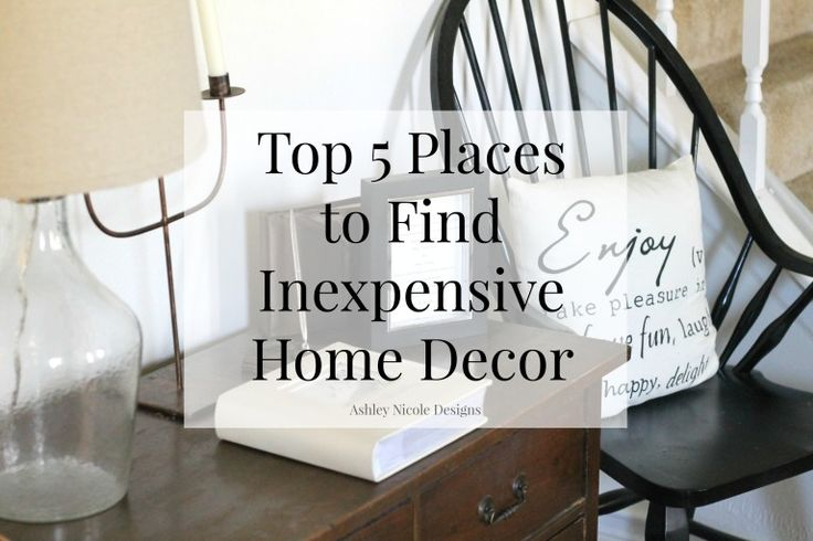 Great list of places to find inexpensive home decor