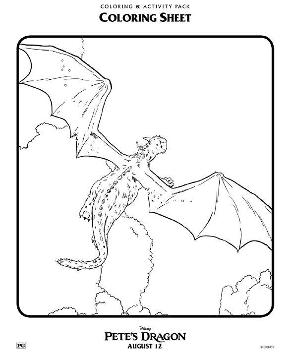 Mejores 8 imágenes de Disney Pete\'s Dragon coloring pages Disney en ...