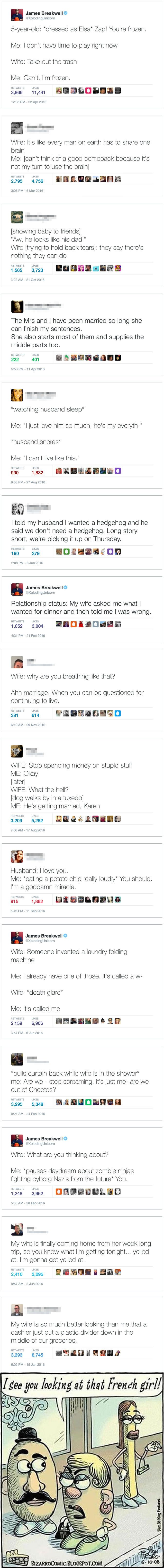 The Funniest Marriage Tweets