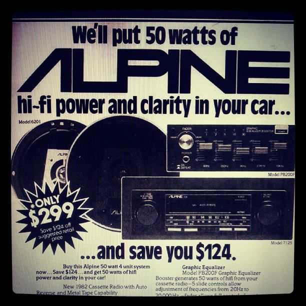 Vintage Alpine Car Audio Ad